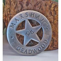Lot de 3 Reproduction Western Etoile de Sheriff - Marshal Deadwood Badge MI3007 - Livraison Gratuite