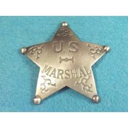 Lot de 3 Reproduction Western Etoile de Sheriff - US Marshal Badge MI3016 - Livraison Gratuite