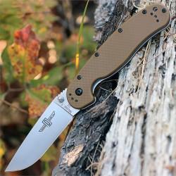 Couteau Ontario RAT1 D2 Lame Acier D2 Manche FRN Coyote Brown Linerlock ON8867CB - Livraison Gratuite
