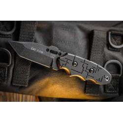 Couteau Tops CAT Tanto Black G10 Covert Anti-Terrorism Acier 1095 Manche G-10 Made USA TP203T01 - Livraison Gratuite