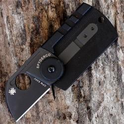 Couteau Spyderco Serge Panchenko Dogtag Black Lame Acier CPM S30V Manche Fibre Carbone SC188CFBBKP - Livraison Gratuite