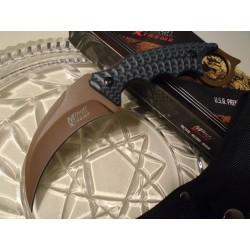 Couteau Karambit MTECH XTREME Acier Carbone/Inox 5mm Epaisseur Manche G-10 Etui Nylon MTX8140BT - Livraison Gratuite