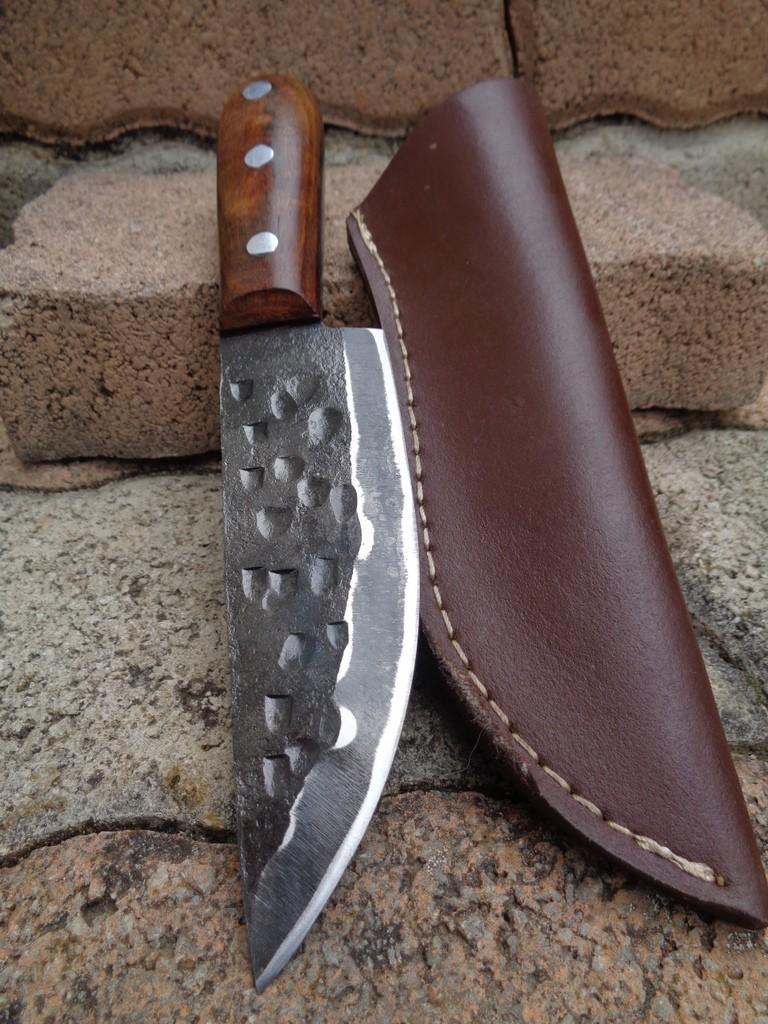 Bushcraft Bowie Couteau de Trappeur Lame Forgée