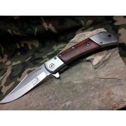 Lot de 3 Couteaux Elk Ridge Classic Linerlock A/O Lame Acier 440 Manche Bois ERA009SW - Livraison Gratuite