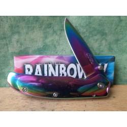 Lot de 3 Couteaux Rite Edge Rainbow IV Acier Inox Finition Ac En Ciel Framelock CN210930 - Livraison Gratuite