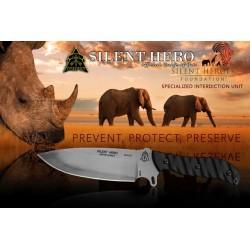 Couteau De Survie Tops Silent Hero Lame Acier Carbone 1095 Manche Micarta Etui Cuir Made In USA TPHERO01 - Livraison Gratuite