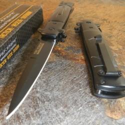 Lot de 3 Couteau Tac Force Stiletto A/O Acier 440 Manche Aluminium TF623BB - Livraison Gratuite