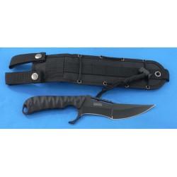Couteau Tactical MTech Xtreme Black Acier 440C Manche G-10 Etui Nylon MTX8134 - Livraison Gratuite