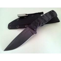 Couteau de Survie Bushcraft Schrade Lame Acier 65Mn Manche G-10 Allume Feu SCHF59 - Livraison Gratuite