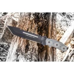 Couteau Tops Steel Eagle Acier 1095 Carbon Manche Micarta Etui Nylon Made USA TP107D - Livraison Gratuite