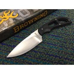 Couteau de Survie Browning Skinner Lame Acier Carbone/Inox Manche G-10 Etui Nylon BR0098 - Livraison Gratuite