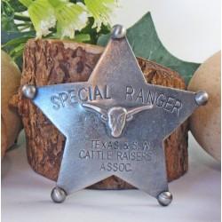 Lot de 3 Reproduction Western Etoile de Sheriff - Special Ranger Badge MI3025 - Livraison Gratuite
