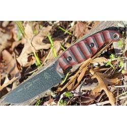 Couteau Tops Viper Scout Lame Acier Carbone 1095 Manche G-10 Etui Cuir Made In USA TPVPSR2 - Livraison Gratuite