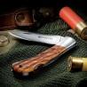 Couteau Beretta Checkered EDC Lame Acier 440 Manche Bois Lockback Made In Italy BE125IOLP - Livraison Gratuite