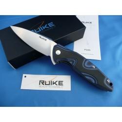 Couteau RUIKE Fang P105 Lame Acier 14C28N Manche G-10 Blue RKEP105Q - Livraison Gratuite