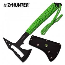 Lot de 3 Haches Tomahawk Chasseur de Zombies Z-Hunter Axe Green Cord Handle Acier Inox Etui Nylon ZBAXE9 - Livraison Gratuite