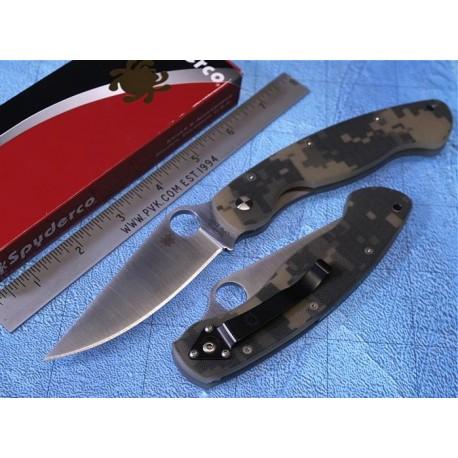 Couteau sc36gpcmo Spyderco Military Digital Camo Handle