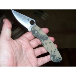 Couteau Spyderco Para-Military 2 Digital Camo Acier CPM-S30V Made in USA sc81gpcmo2