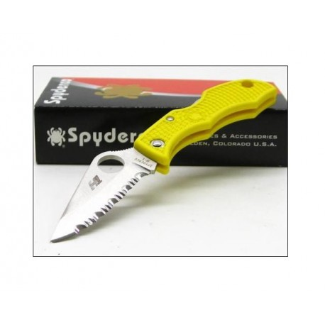 COUTEAU SPYDERCO Yellow LADYBUG SALT H1 Serrat SCLYLS3