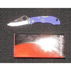 Couteau Spyderco Ladybug 3 Purple Handles Lame Acier VG-10 Spyderco Made In Japan SCLPRP3 - Livraison Gratuite