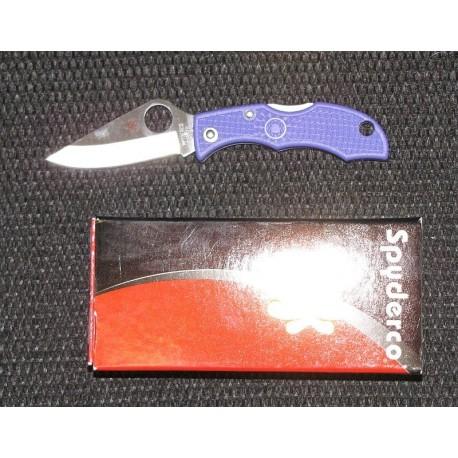 Couteau sclprb3 Spyderco Ladybug 3 Purple Handles