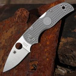 Couteau Spyderco Native 5 Lightweight Micro-Melt Maxamet Manche Gray FRN Lockback Made USA SC41PGY5 - Livraison Gratuite