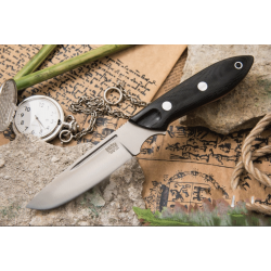 Couteau Bark River Adventurer III CPM-154 Black Micarta Etui Cuir Made In USA BA05369MBC - Livraison Gratuite