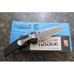 Couteau Hogue EX01 Tactical Drop Point Lame Acier 154CM Manche Aluminium Button lock Made USA HO34170 - Livraison Gratuite