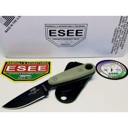 Couteau ESEE Izula II Tactical Lame Acier Carbone 1095 Manche Micarta Etui Kydex Made In USA ESIZ2TG - Livraison Gratuite
