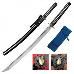 Sabre de Samourai Cold Steel Warrior Series Chisa Katana Carbone 1055 Manche Peau de Raie Etui Bois CS88BCK - Livraison Gratuite