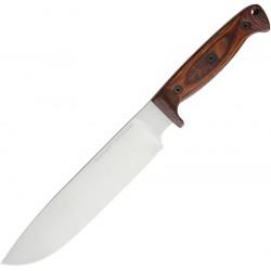 Couteau Ontario Bushcraft Woodsman Lame Acier 5160 Manche Bois Made USA ON8697 - Livraison Gratuite