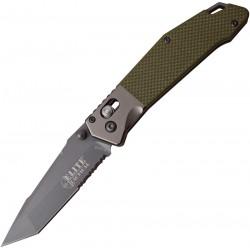 Couteau Elite Tactical Rapid Lock Green Tanto Serr Acier 8Cr13Mov Manche G-10 ELT1027GN - Livraison Gratuite