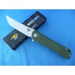 Couteau Bestech Knives Tanto Kendo Lame Acier D2 Manche Green G-10 Linerlock BTKG06B1 - Livraison Gratuite