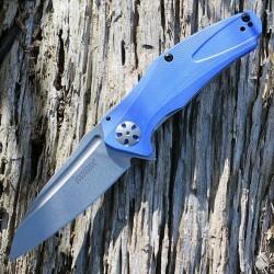 Couteau Kershaw Natrix A/O Lame Acier 8Cr13MoV Manche Blue G-10 Framelock Clip KS7007BLU - Livraison Gratuite