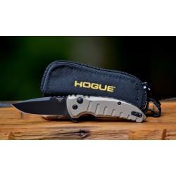 Couteau Hogue X1 Micro Desert Tan Lame Acier 154CM Manche Aluminium Button Lock Clip Made USA HO24177 - Livraison Gratuite
