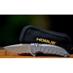 Couteau Hogue X1 Micro Gray Lame Acier 154CM Manche Aluminium Button Lock Clip Made USA HO24172 - Livraison Gratuite