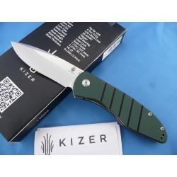 Couteau Kizer Vanguard Velox 2 Lame Acier VG-10 Manche G-10 Linerlock Clip KIV4478A2 - Livraison Gratuite