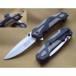 Couteau Multifonction Mtech A/O Lame Acier Inox Manche GFN Brise Vitres/Cutter MTA959SLB - Livraison Gratuite