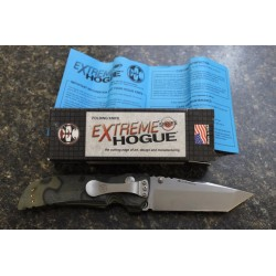 Couteau Hogue EX01 Tanto Lame Acier 154CM Manche G-10 G-Mascus Green Made USA HO34148 - Livraison Gratuite