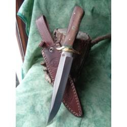 Couteau Poignard Frost Cutlery Chipaway Buffalo Spirit Acier Carbone/Inox Manche Bois Etui Cuir FCW668 - Livraison Gratuite