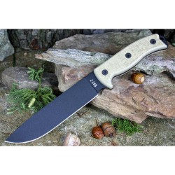Couteau de Survie ONTARIO RAT-7 Acier Carbone 1095 Manche Micarta Made In USA ON8668 - Livraison Gratuite