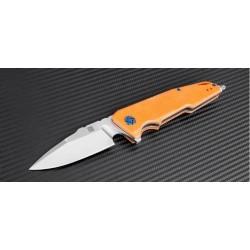 Couteau Artisan Predator Lame Acier D2 Manche Orange G-10 Linerlock Clip Pivot Céramique ATZ1706POE - Livraison Gratuite