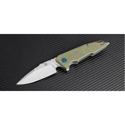 Couteau Artisan Predator Lame Acier D2 Manche Green G-10 Linerlock Clip Pivot Céramique ATZ1706PGN - Livraison Gratuite