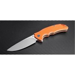 Couteau Artisan Tradition Lame Acier D2 Manche Orange G-10 Linerlock Clip Pivot Céramique ATZ1702POE - Livraison Gratuite
