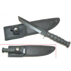 Lot de 3 Couteaux de Cou Mini Tanto Lame Acier Inox Manche Abs Etui Nylon M3636 - Livraison Gratuite