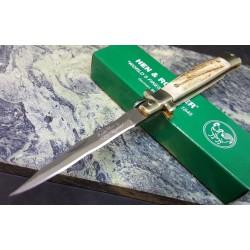 Couteau Damas Kriss EDC Hen & Rooster Lame 128 Couches Manche Bois de Cerf Lockback HR5091DSD - Livraison Gratuite