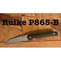 Couteau Ruike P865-B Lame Acier 14C28N Manche G-10 Linerlock Clip RKEP865B - Livraison Gratuite