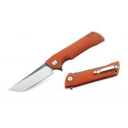Couteau Bestech Paladin 13C-2 Orange Lame Acier D2 Manche G-10 Linerlock Clip BTKG13C2 - Livraison Gratuite