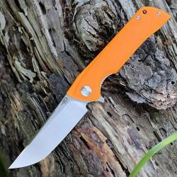 Couteau Bestech Paladin 13C-2 Orange Lame Acier D2 Manche G-10 Linerlock Clip BTKG13C1 - Livraison Gratuite