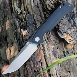 Couteau Bestech Paladin 13A-2 Black Lame Acier D2 Manche G-10 Linerlock Clip BTKG13A2 - Livraison Gratuite